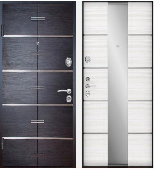 Стальная дверь Falko Конструктор М-77 венге/белый ясень