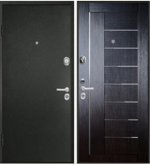 Стальная дверь Конструктор М-9 2мм черный шелк/венге кантри