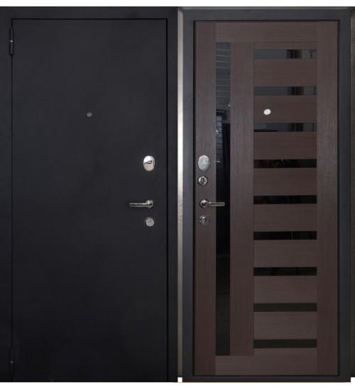 Стальная дверь Форт 05 черный муар/венге царга