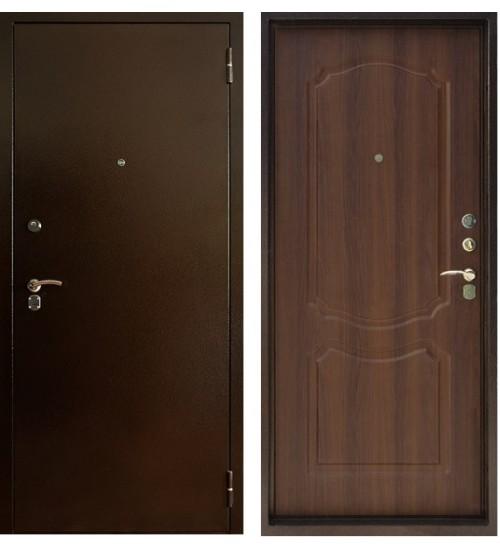 Дверь Форт Б-11Ф антик медь/дуб рустикальный