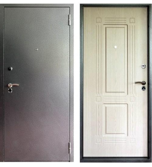Дверь Форт Б-07 антик серебро/беленый дуб