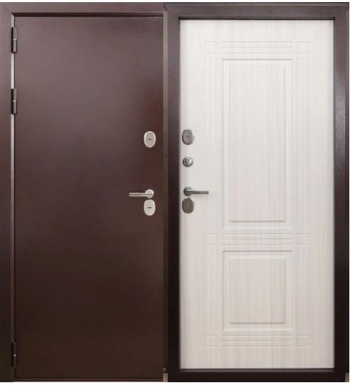 Стальная дверь Форт Термо Т-103 медь/белый ясень