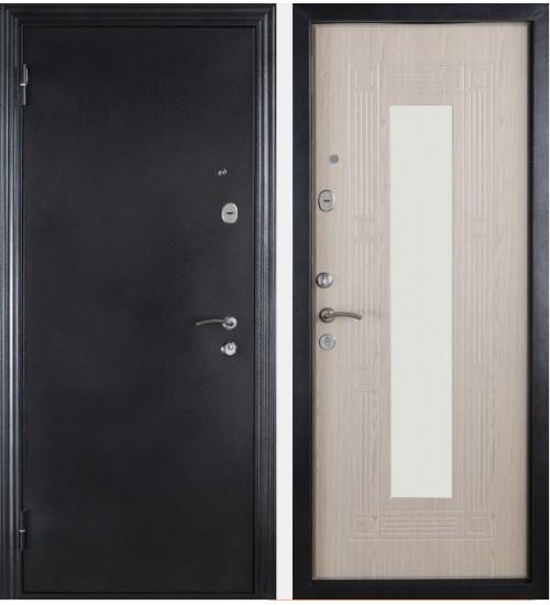 Дверь Форт Б-14Z серебро/беленый дуб с зеркалом