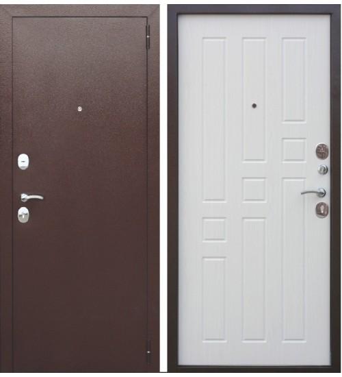 Стальная дверь Гарда медь 8мм белый ясень