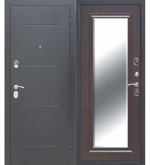 Дверь Гарда 7,5см серебро/венге с зеркалом