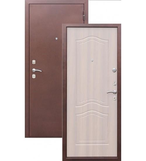 Стальная дверь Гарда медь/белый ясень