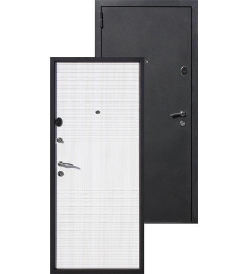 Стальная дверь Гарда 75мм черный муар/дуб сонома