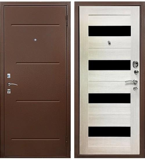 Стальная дверь Хит-13 антик медь/капучино
