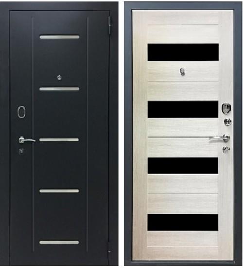 Стальная дверь Хит-15 черный муар/капучино