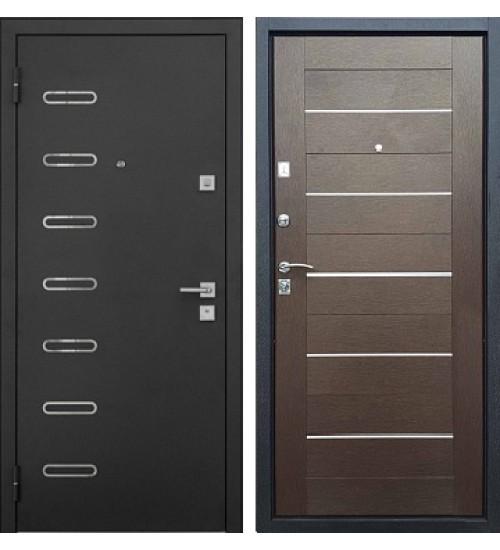 Стальная дверь Хит-7 черный шелк/венге