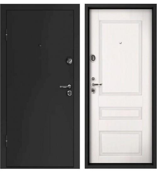 Стальная дверь Конструктор М-22 2мм черный муар/оптим №4 белый ясень