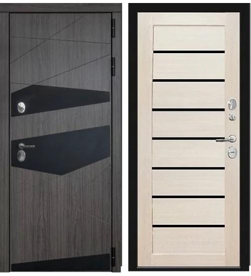 Коттеджная дверь Локо термо Volkan oak/лиственница беленая