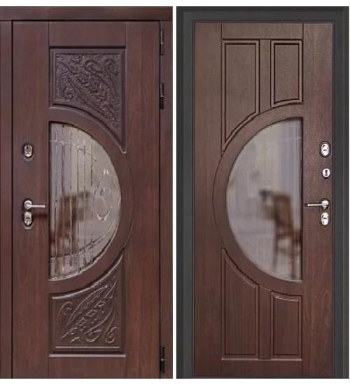 Коттеджная дверь Луна термо алмон 27