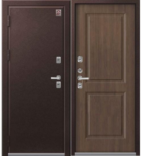 Стальная дверь Т-2 Центурион шоколадный муар/миндаль