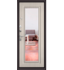 Входная дверь Бульдорс Mass-90 140 букле графит/ларче бьянко зеркало