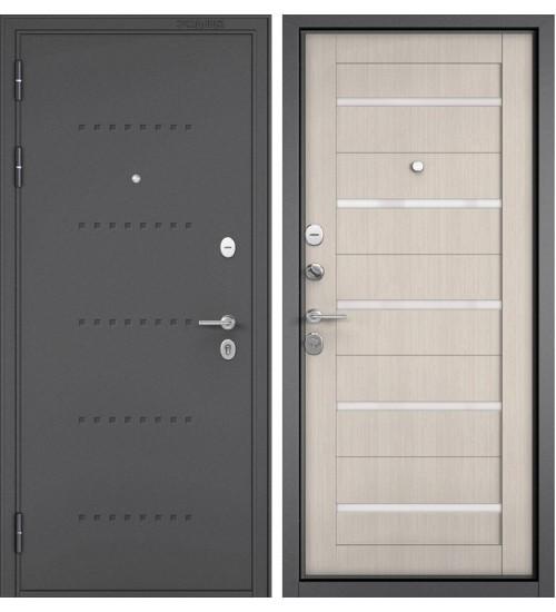 Входная дверь Бульдорс Mass-90 CR-3 букле графит/ларче бьянко