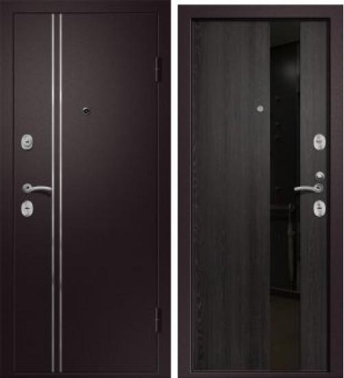 Стальная дверь Медея-321 (М1) 109Z сатин черный/венге