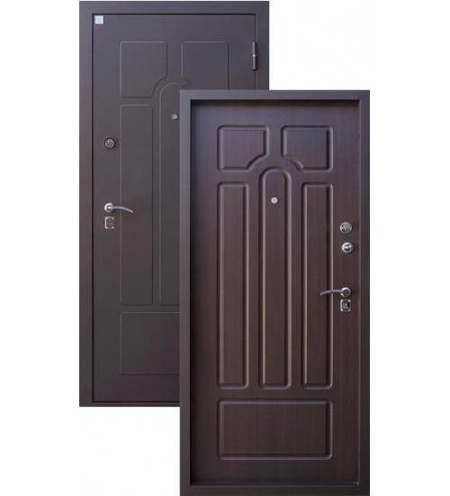 Стальная дверь Алмаз Опал-2 муар/венге