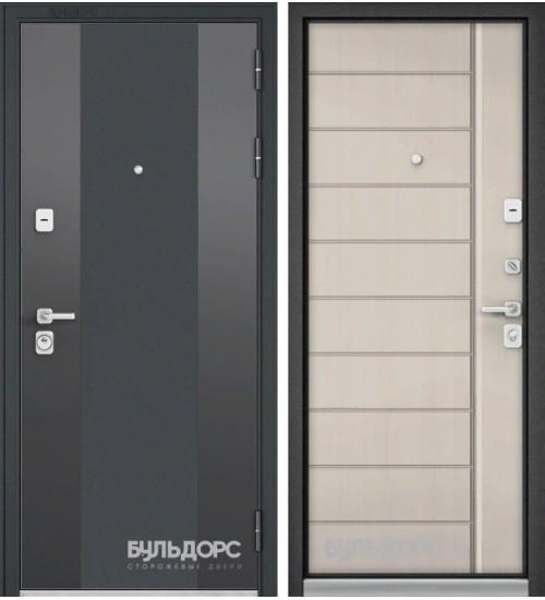 Входная дверь Бульдорс Premium-90 черный шелк 9К-6/ларче бьянко 9Р-136