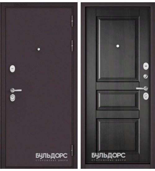 Входная дверь Бульдорс Mass-90 букле шоколад/дуб графит 9SD-2