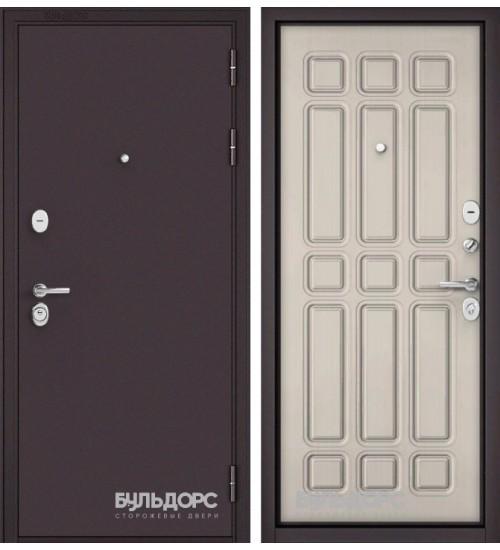 Входная дверь Бульдорс Mass-90 букле шоколад/ларче бьянко 9s-111