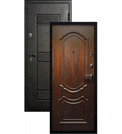 Стальная дверь Стандарт+Венеция черный шелк/венге патина