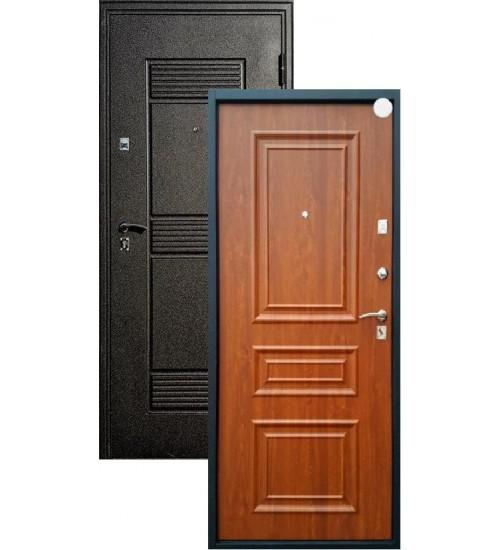 Стальная дверь Стандарт+Византия черный шелк/золотистый дуб