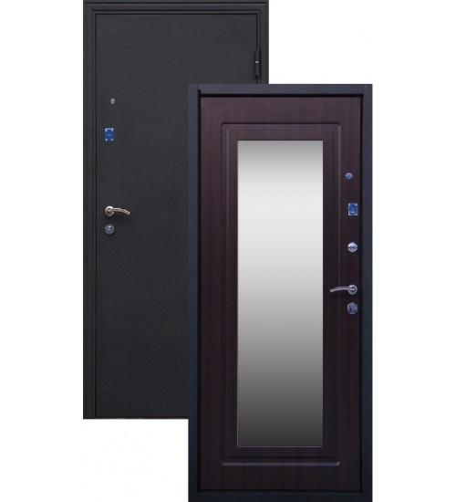 Стальная дверь Стандарт+ шелк/венге с зеркалом
