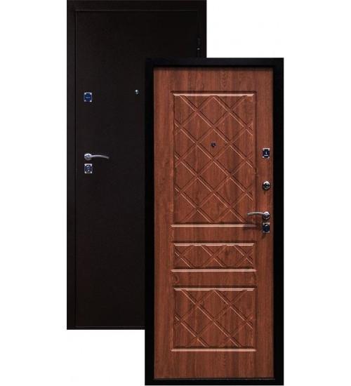 Стальная дверь Стандарт антик медь/золотистый дуб