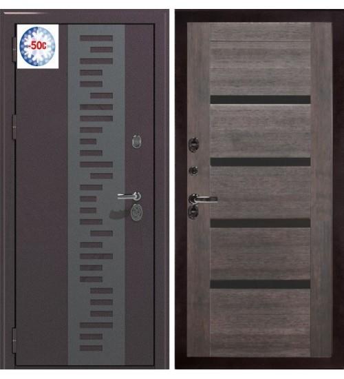 Стальная дверь BERSERKER TT2-G301 TERMAX муар/орех темный