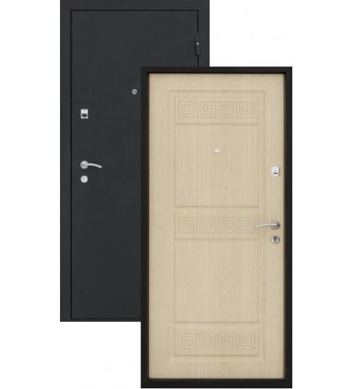 Стальная дверь Топаз-11 шелк/беленый дуб