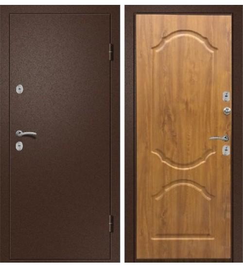 Стальная дверь Триера-2 антик медь/дуб золотой