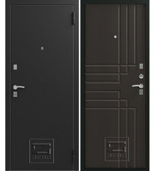 Металлическая дверь Зевс Z-2 черный шёлк/венге шёлк