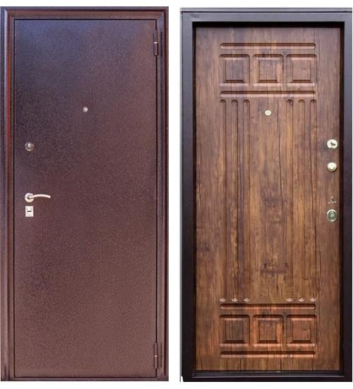 Металлическая дверь Зевс Z-4 медь/дуб антик