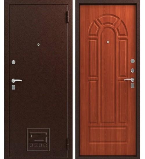Металлическая дверь Зевс Z-4 медь/итальянский орех