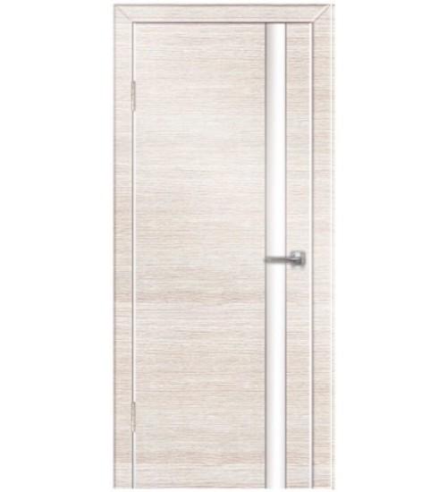 Дверь Техно-2 белое стекло венге/беленый дуб