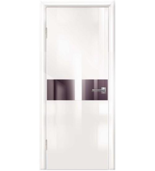 Дверь Техно-3 черное стекло глянец