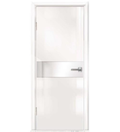 Дверь Техно-3 белое стекло глянец