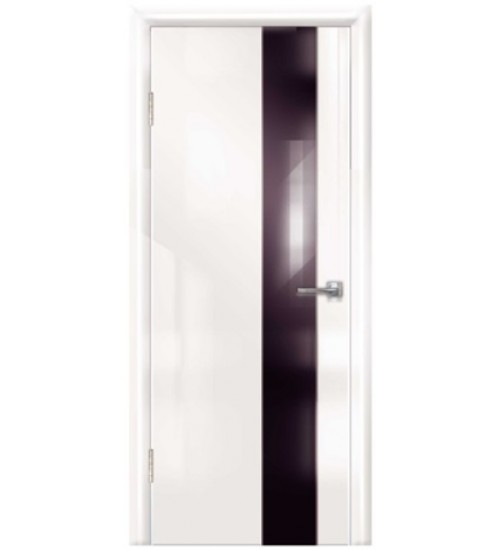 Дверь Техно-4 черное стекло глянец