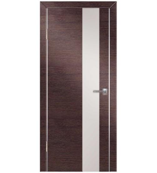 Дверь Техно-4 белое стекло венге/беленый дуб